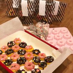 ダイソーシリコン型/ミニ焼ドーナツ/友チョコ/バレンタイン2020/ダイソー/セリア/... 高1の娘と中1の娘。 初めての2人だけで…
