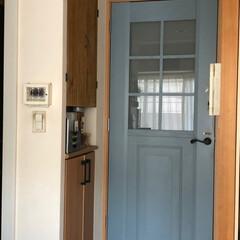 DULTON ダルトン 看板 真鍮サイン PULL プル ドア 扉を引く 横 ブラスサインボード インテリアパーツ ドアサイン | DULTON(オブジェ、置き物)を使ったクチコミ「私のお気に入りのドア♫  リビングのドア…」