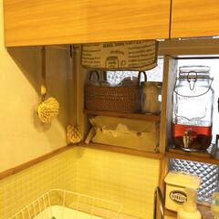 Dream Sticker タイルシール BST−11 スノー(ウォールステッカー)を使ったクチコミ「滅多に撮らないキッチンの内側(笑) 食器…」