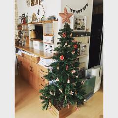 クリスマス/クリスマスツリー/DIY/すのこ/ワトコオイル/ウッドチップ/... 今年のクリスマスツリーの飾りは、『ヒンメ…(1枚目)