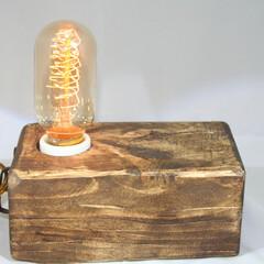 照明/照明器具/アンティーク/木材/エジソン シンプルに仕上げました。