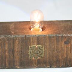 電球/照明器具/アンティーク/木材/レトロ/豆電球/... ナツメ球を主役にしてみました。