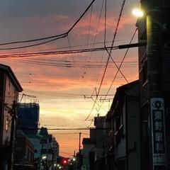 自然/夕焼け/空/おでかけ 今日の夕方空がとってもキレイで思わずパシ…