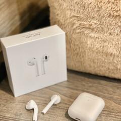 iPhone/うどん/AirPods/ワイヤレスイヤホン airpods 通称うどんさん、使い始め…