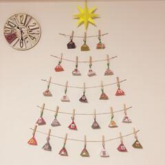 アドベントカレンダー/クリスマス/100均/セリア/ダイソー 明日から12月という事で奥さんの手作りの…