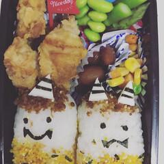節分 鬼おにぎり 金時豆 枝豆 毎月1回ある幼稚園のお誕生日会。お誕生日…(1枚目)
