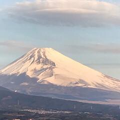風景/世界遺産/富士山 今日も三島市、職場の屋上からの富士山🗻