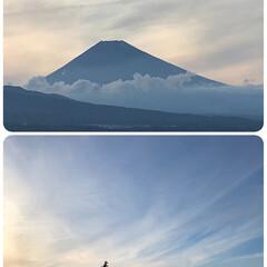 富士山/梅雨 日中はほとんど雲の中にいた富士山🗻 夕暮…(1枚目)