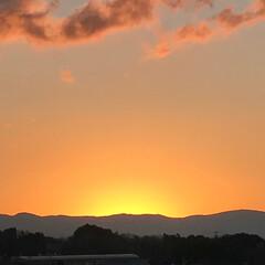 日の出 今朝の日の出🌄