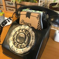 オブジェ/黒電話/雑貨/インテリア 先日本屋さんの雑貨コーナーで見つけて買っ…