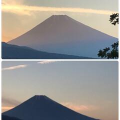 夕暮れ時/富士山 今日の夕暮れ時の富士山🗻