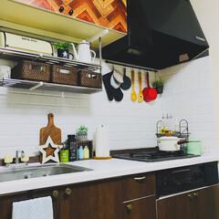 リメイクシート/賃貸/DIY/雑貨/100均/セリア/... 築20年以上の賃貸アパートのキッチンをリ…