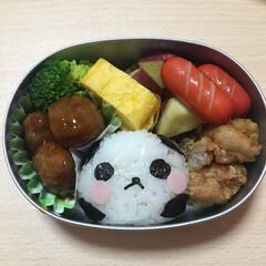 幼稚園/パンダ/小さいお弁当箱 幼稚園の年少さんのお弁当! 週2回つくっ…