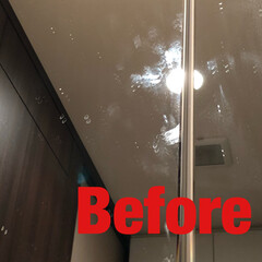 プチお掃除/お家をみがこう/シンプルライフ/生活/暮らし/ピカピカ/... 鏡についた手垢や、飛び散った水滴痕。 洗…(2枚目)