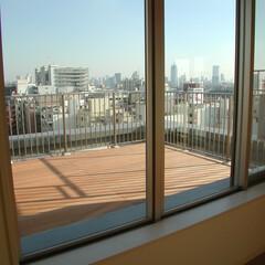 屋上/バルコニー/ウッドデッキ ルーフバルコニーのウッドデッキ  眺めの…