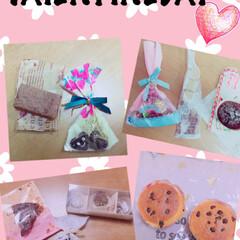 バレンタイン/チョコ/友達/女子力/源氏パイ/お菓子 バレンタインに友達からもらったチョコをま…