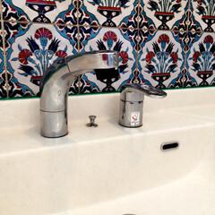 浴室・風呂/おしゃれに暮らす/トルコ/オリエンタル/リノベーション トルコタイルを貼ってオリエンタルな雰囲気…