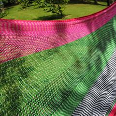 ハンモック/hammock/ムラブリハンモック/ヤンバルクイナ 編み目の細かさで乗り心地が決まる  ムラ…