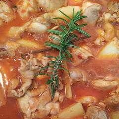夕ご飯/定番おかず/ハーブ/トマト缶/節約レシピ/おうちごはん/... トマトソースとミートソースは2週ごと交互…