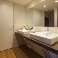 ナチュラル/洗面所/ボール/エコカラット 朝、洗面室の取り合いになることってありま…