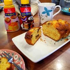 HMで簡単/おうちカフェ 『バナナチョコパウンドケーキ』でおうちカ…