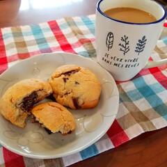 手作りお菓子/おうちカフェ/HMで簡単 『チョコスコーン』でおうちカフェ♡  レ…