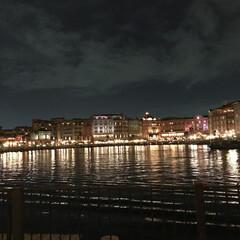 ディズニーシー/夜景/旅行/風景/旅 ディズニーシーに行くと必ずここからの写真…