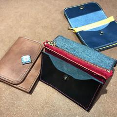 財布/ハンドメイド/手作り/コンパクト財布/黒/ブラウン/... ミニ財布 3色です カードは5~6枚収納…
