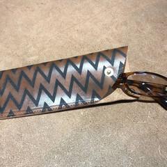 メガネ/眼鏡/メガネケース/革小物/革加工/レザー/... ハンドメイド 革のメガネケース1000円…