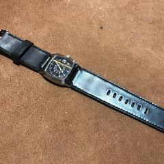 時計/時計バンド/アップルウォッチ/革/鹿革/オリジナル 革の時計バンドの制作です 最近 アップル…