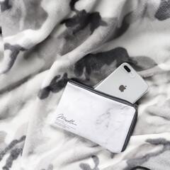 モノトーン雑貨/モノトーン/大理石柄/100均ポーチ/Instagram @maaco.uw/100均/... 私がオススメなポーチ、キャンドゥで購入し…