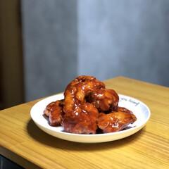 ダイソー/フォロー大歓迎/料理/屋台料理/韓国料理/ヤンニョムチキン/... おうちじかんに作った「ヤンニョムチキン」…