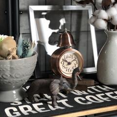 目覚まし時計 アンティーク レトロ おしゃれ 目覚し時計 アナログ ベル 置き時計 アラームクロック 新生活(目覚まし時計)を使ったクチコミ「だいぶ前にダイソーで購入した象さんの置物…」
