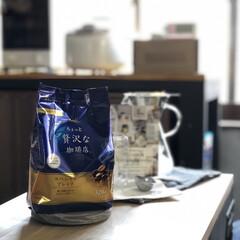 sarasadesign/コースター/コーヒードリッパー/リピート買い/スーパーで売ってる/レギュラーコーヒー/... 私がスーパーで買うこのコーヒー! お値段…