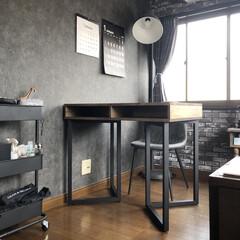 IKEA/アンティークグレー/オールドウッドワックス/ターナー色彩/雑貨/DIY/... 最近新たに作ったデスク! 今回は収納もあ…
