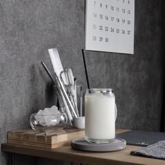 キッチン雑貨/Instagram @maaco.uw/100均パトロール/フォロー大歓迎/100均購入品/セリア新商品/... セリアで見つけたこのグラスコップ! 缶型…