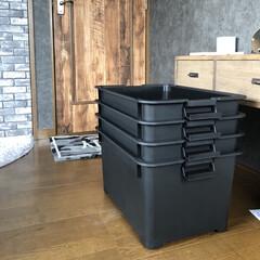 壁紙屋本舗/収納/モノトーン雑貨/Instagram @maaco.uw/クローゼット/収納ボックス/... 楽天市場で購入したこの収納ボックス! 黒…