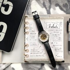 腕時計/システム手帳/手帳の中身/日記/雑貨/100均/... 日記デコにハマり早1か月…😍 インスタ映…