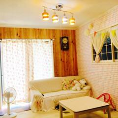リビング/和室/洋室/北欧/真っ白 元々和室だった部屋ですが、壁紙を張り替え…