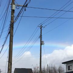 散歩中/空/虹 虹が綺麗で撮影しました🌈