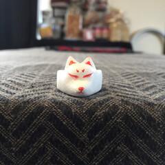 指輪/リング/石塑粘土/ラドール/ハンドメイド201606 キツネリング