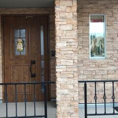 手拭いタペストリー/玄関インテリア 玄関のfix小窓に手拭いタペストリーを掛…(2枚目)