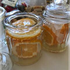 メイヤーレモン/アカシアの花はちみつ/レモンシロップ/ガラス瓶/100均/セリア 今日2回目のレモンシロップを作りました♡…