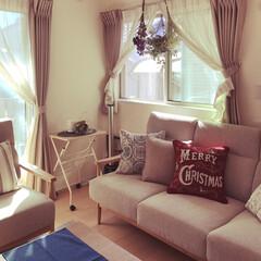 クリスマス/ドライフラワー/ニトリ/住まい/ニトリのソファー/ニトリのクッションカバー/... 我が家は3階建てで二世帯住宅。 まだ同居…