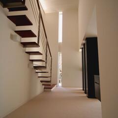 鉄骨階段/エントランスホール/不動産・住宅/デザイン