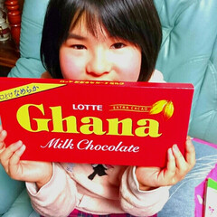 板チョコ/チョコレート/チョコ/ロッテガーナ/ガーナ 巨大ガーナ発見❗❗⤴⤴娘が気になりすぎて…