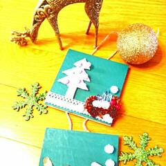 クリスマス飾り/クリスマスインテリア/ハンドメイド/雑貨/クリスマス雑貨/クリスマスオーナメント/... クリスマスオーナメント作りました🔔✨✨