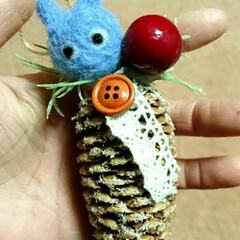 ハンドメイド/クリスマス手作り/クリスマス飾り/クリスマスオーナメント/クリスマスインテリア/クリスマス雑貨/... クリスマスオーナメント、ミニトトロのせま…