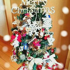 クリスマス準備/クリスマス手作り/クリスマスオーナメント/クリスマスインテリア/クリスマス雑貨/クリスマスツリー/... 実家のクリスマスツリーを手作りオーナメン…