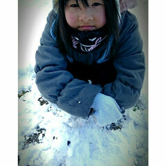 遊び/ハンドメイド/雪あそび/雪だるま/雪国/雪/... 作品についに青森にも雪が降りました🌁⛄🌁…